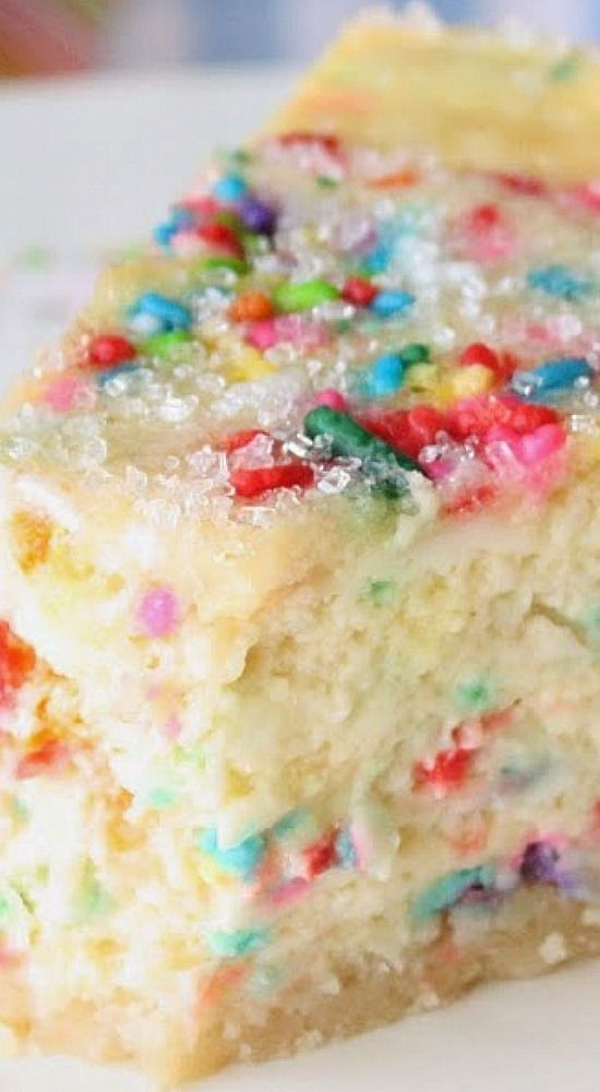 Sugar Cookie Cheesecake ~ This sugar cookie cheesecake is a big hit... It's simple to make and makes any day a celebration!