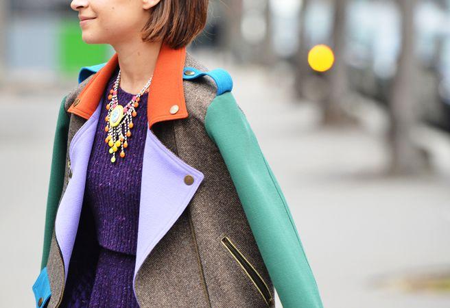 Multi color coat