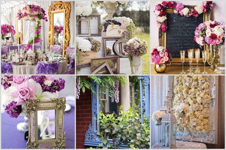 Свадебный декор. Картины и зеркала. Wedding decor. Paintings and mirrors.