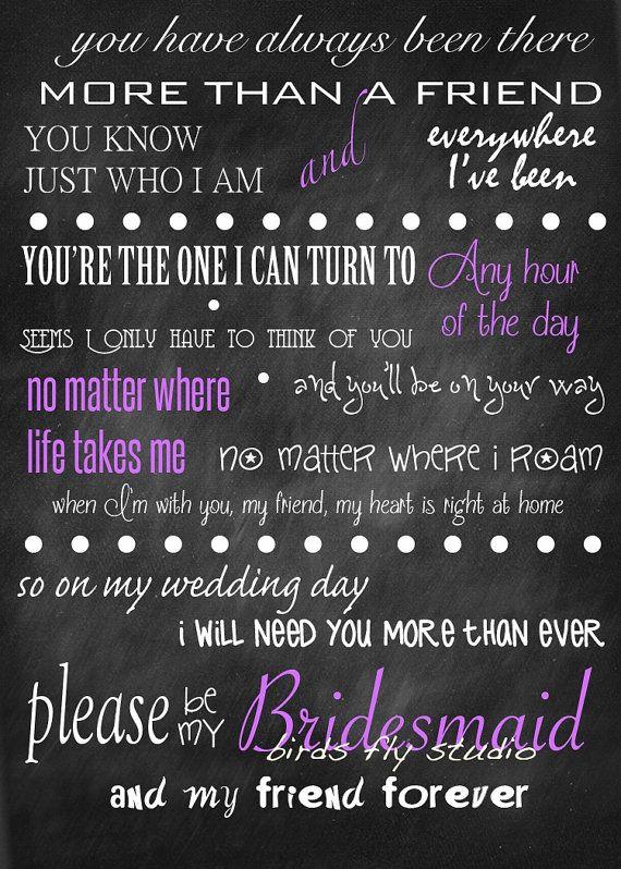 Will you be my bridesmaid DIY Printable Card by BirdsFlyStudio, $5.00