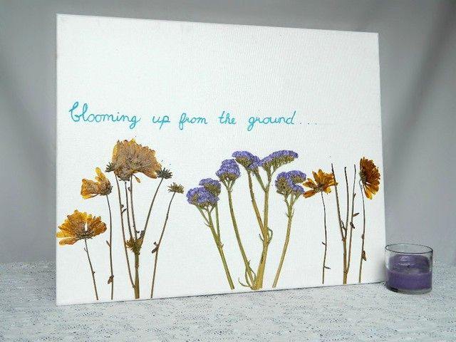 Dried Flower Canvas Wall Tattooed Martha Wall Art