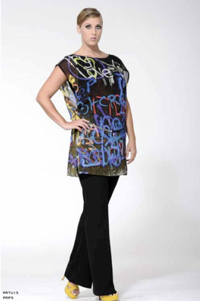 abiti sophia elegante casacca pantaloni donna taglie forti 58 60 62 64 66 68