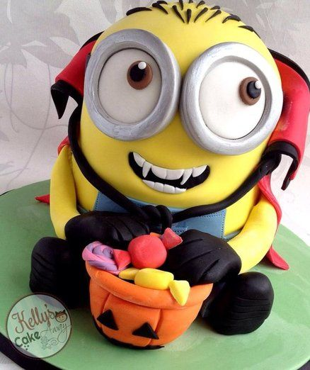 Halloween Minion. Precioso! Minion Cake birthday party kids adult unisex cupcake popcake boys and girl
