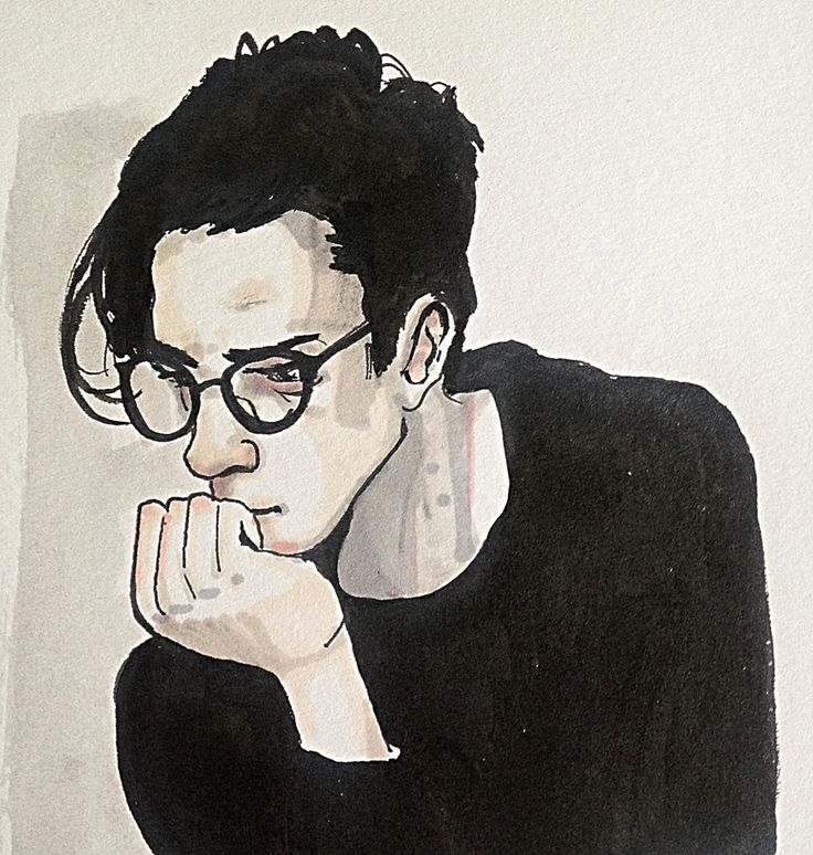 Thoughtful hipster lad. Model ref from menburnstars.tumblr #Portrait #drawing #imperfections