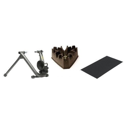 Indoor Cycle Trainer Magnetic Stationary Bicycle Riser Padded Mat Adjustable #CycleOps