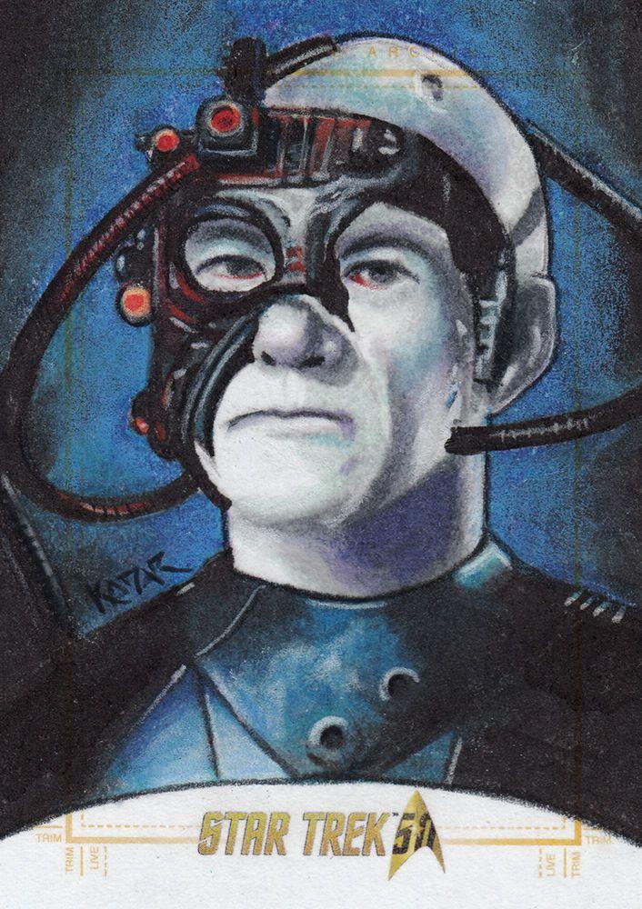 Star Trek 50th Anniversary sketch card LOCUTUS Artist Proof by Frank Kadar