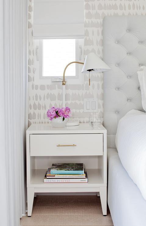 Best Light Gray Tufted Headboard Master Bedroom Lighting 400 x 300