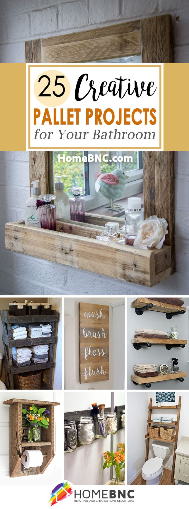 25 Pallet Project Ideas To Add Some Rustic Splendor Your Bathroom