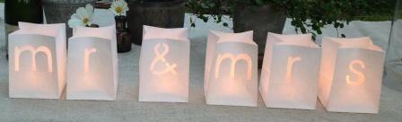 Papieren lantaarns Mr&Mrs