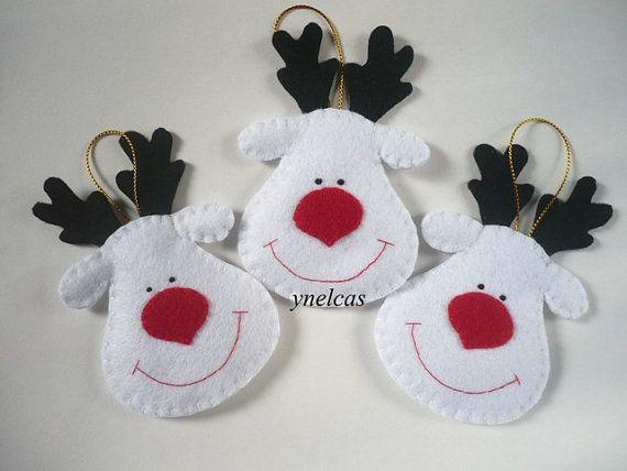 Natale feltro ornamenti  Feltro Natale Rudolph la renna dal