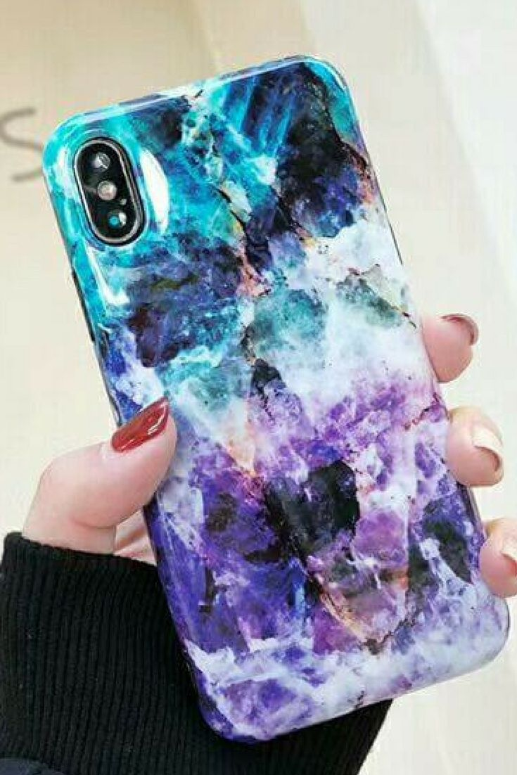 Beautiful Blue \u0026 Purple Marble Phone Case For iPhone 6, 6