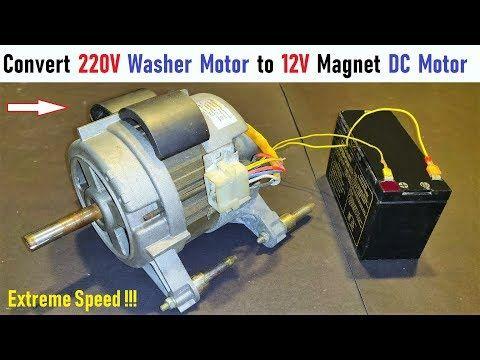 Make 12V Magnet DC Motor from Old 220V AC Washing Machine ... Ac V Motor Wiring on