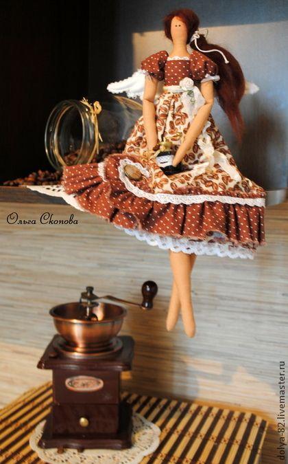 Куклы Тильды ручной работы. Ярмарка Мастеров - ручная работа Тильда кофейная феечка.. Handmade.