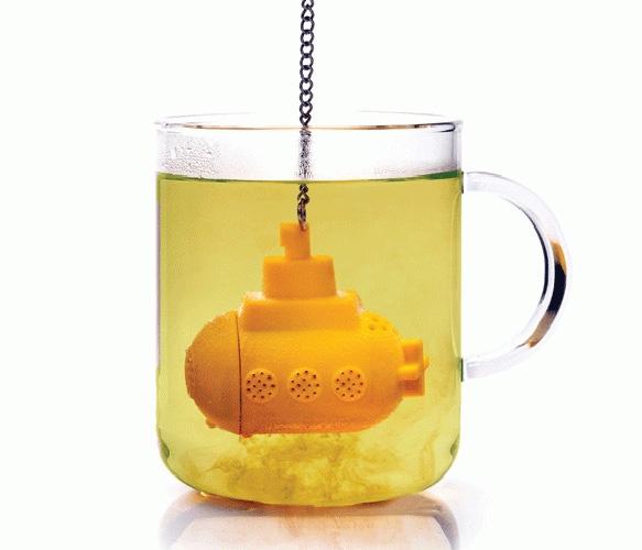 Submarine Tea Infuser: The Beatles, Teas Infused, Yellow Submarines, Teas Time, Teas Strainer, Submarines Teas, Leaves, Products, Drinks