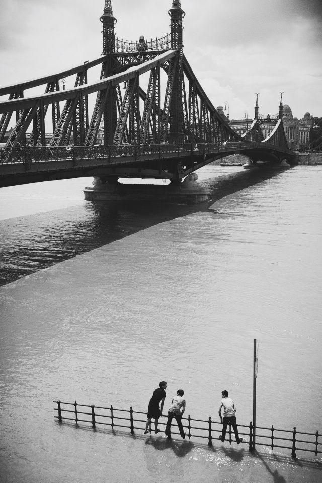 Flooded Danube River   Budapest, Hungary