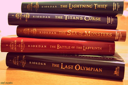 Percy Jackson and the Olympians by Rick Riordan.  Don't ghet me wrong; Harry Potter will always have a special place in my heart. Always. But this series...means so much to me. I don't know why, but every time a pick up these books, I fall in love with these characters like I knew them once. Riordan is a genius at writing adult themes for little kids. I love this man.