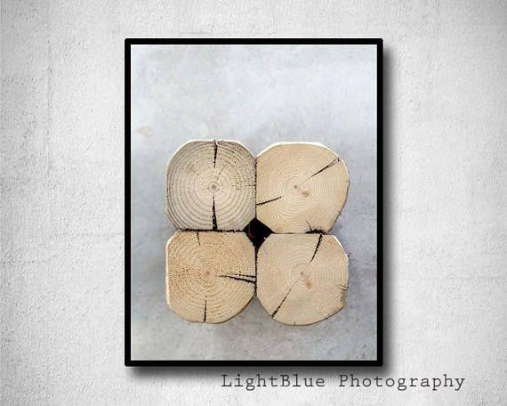 Minimal Print Log Photography Wood Pile Print Printable Log