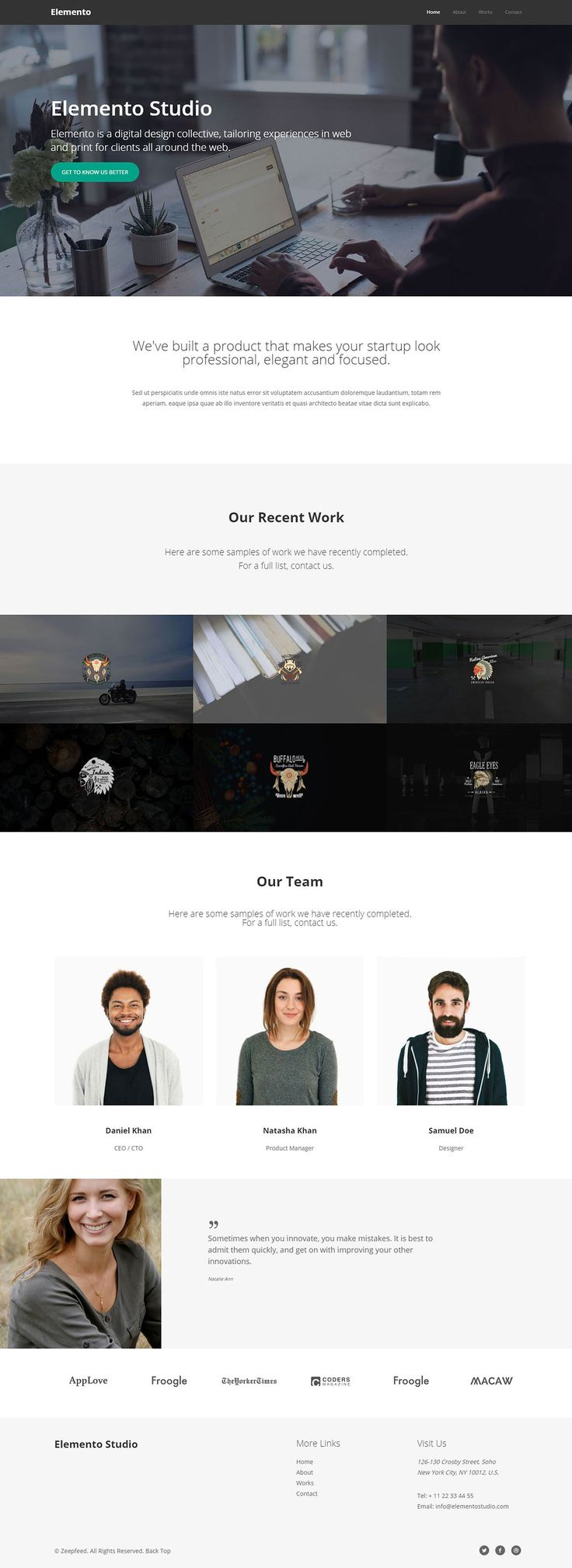 very cleanspacing, white space, typography, presented by Zeepfeed on @creativemarket