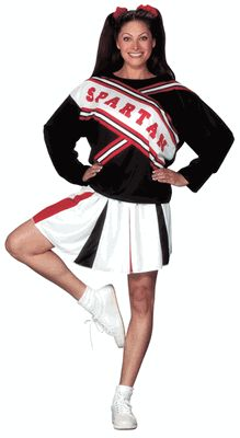 Female Spartan Cheerleader Costume, Saturday Night Live Costume