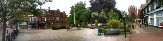 Panorama of Nantwich Town Square - our town
