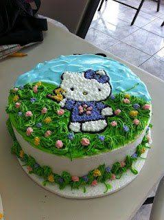 hello kitty vanilla cake!