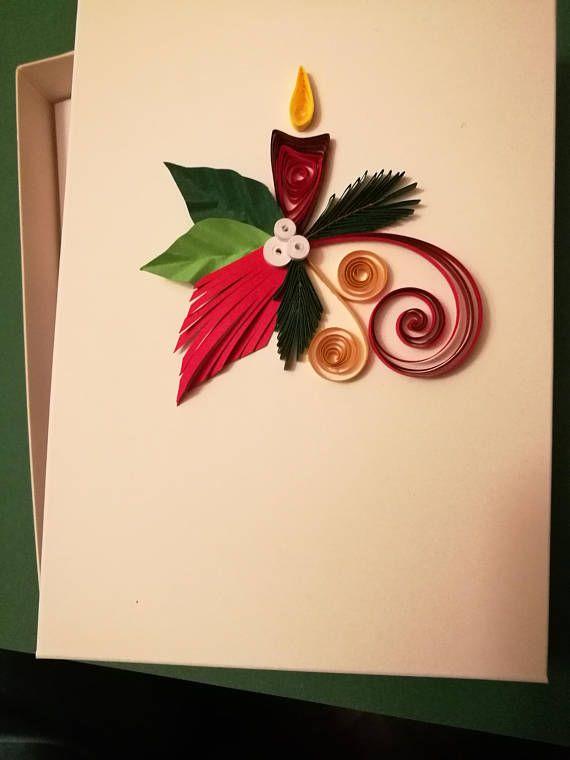 Christmas Card Quilling Christmas Card Merry Christmas Card Etsy Quilling Christmas Christmas Cards Handmade Merry Christmas Card