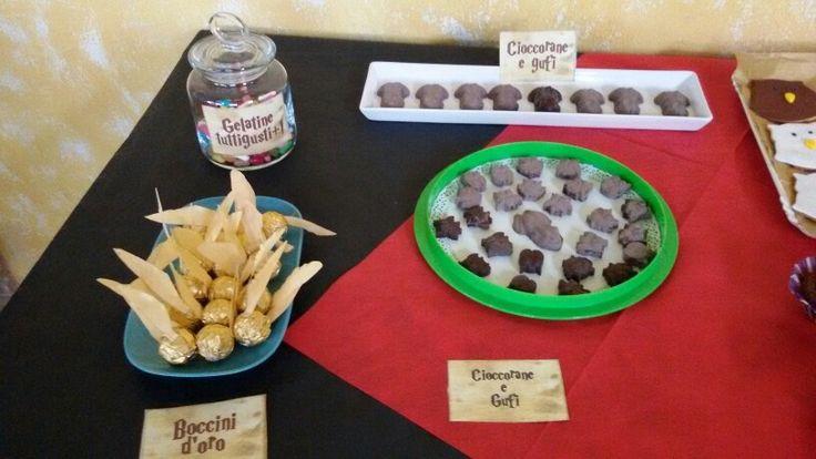 Cioccorane e gufi harry potter party