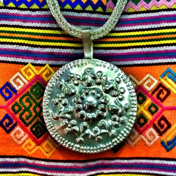 Nungkolo Fabric And The Pendant Originally From Nusa Tenggara Timur, East Indonesia. #pasarindonesia