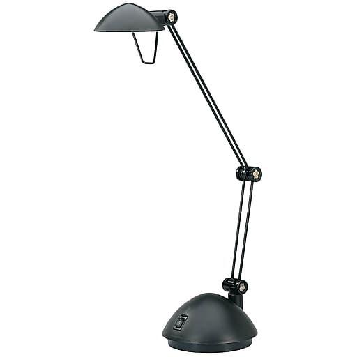 V-LIGHT Halogen Adjustable Twin-Arm Desk Lamp, Black Finish (VS90988BC)