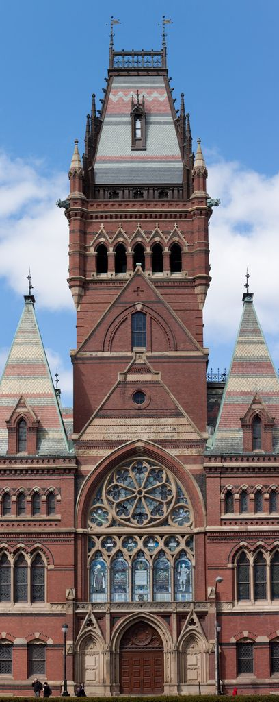 Memorial Hall, Harvard, Cambridge Massachusetts.  Memorial Hall, immediately north of Harvard Yard is an imposing High Victorian Gothic building honoring the sacrifices made by Harvard men in defense of the Union during the American Civil War — a symbol of Boston's commitment to the Unionist cause and the abolitionist movement in America.