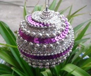 Christmas ball Christmas ornament painted ball ornaments crafts boutique SD14