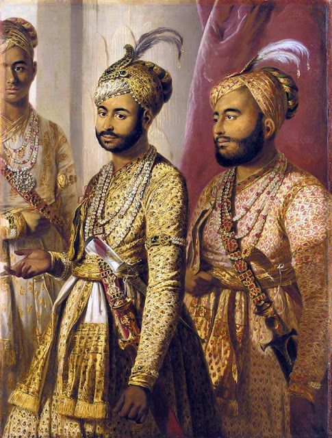 Sons of the Nawab of Arcot, by Tilly Kettle, 1770.