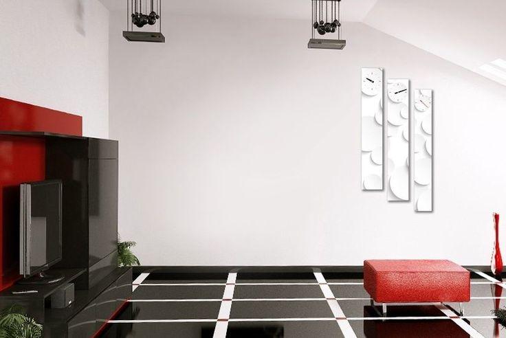 Interior Wall Clock Dot Home Decor, Modern Luxury 3pcs Framed Wall Art   #LEMONART #ArtDeco