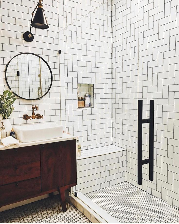Audrey Crisp On Instagram What A Cool Bathroom I Love The Mcm
