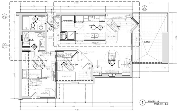 Floor Plan Construction Document Corey Klassen Interior Design Proposed Floor Plan Example Annotating Universal Design C