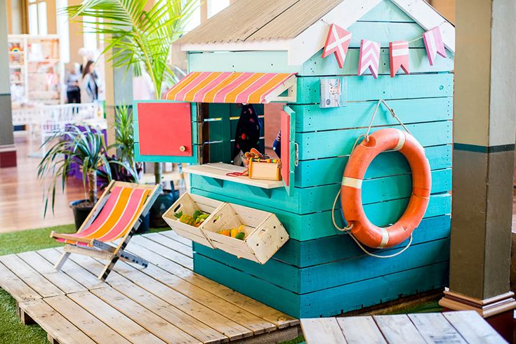 Castle and Cubby Beach Box Cubby in blues at One Fine Baby 2016 in Melbourne
