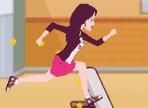 Dopo esserti allenata nelle ore di educazione fisica, dai inizio alla tua corsa nella scuola! Raccogli le monete, evita gli ostacoli e fai attenzione ai professori.