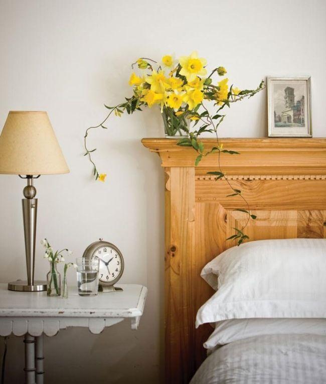 narzissen vase schlafzimmer pflanzen feng shui energie haus