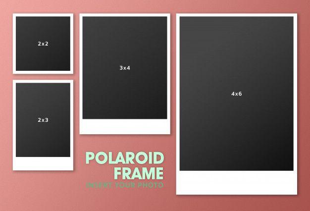 Set Of Polaroid Frame Mockup Moldura Polaroid Molduras De