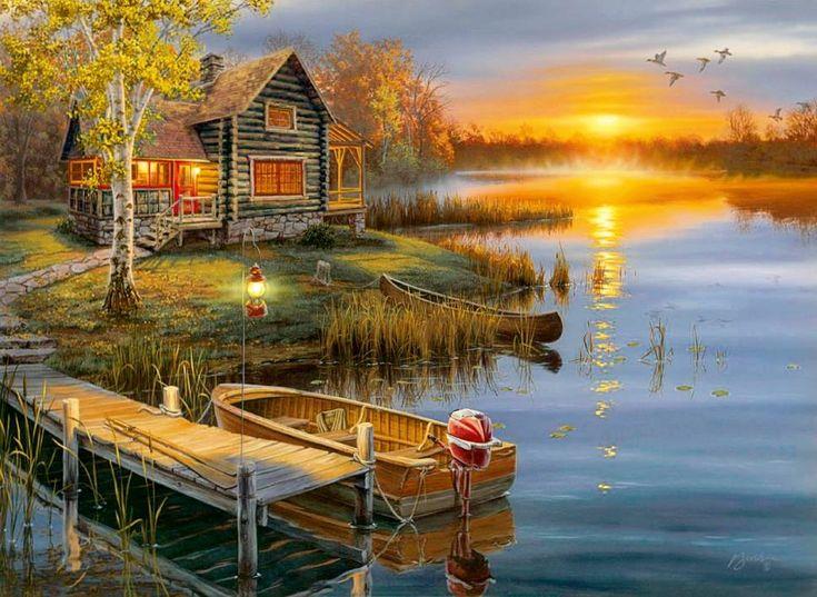 """""""Autumn at the Lake"""" by Darryl Bush"""