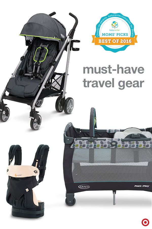 BabyCenter Moms' Picks are voted on by real parents, and these portable products are definite must-haves for travel and your Target Baby Registry. Lightweight and compact, the Graco Breaze Click Connect umbrella stroller and Pack 'n Play play yard with reversible napper and changer will make life away from home with Baby easier. And, the Ergobaby carrier is perfect for being hands-free anytime. Try them all — they're 2016 winners for a reason.