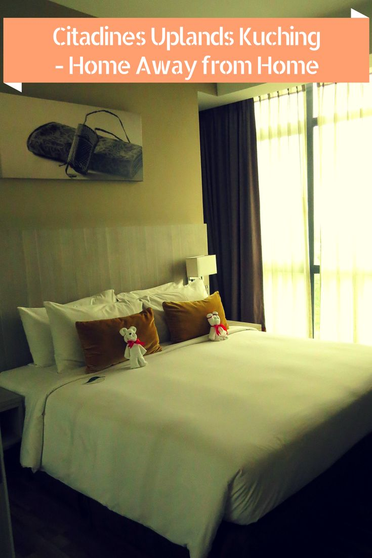Lovely comfy rooms at Citadines Uplands Kuching Malaysia. I love staying in apartment hotels, click to see the video and reasons why.