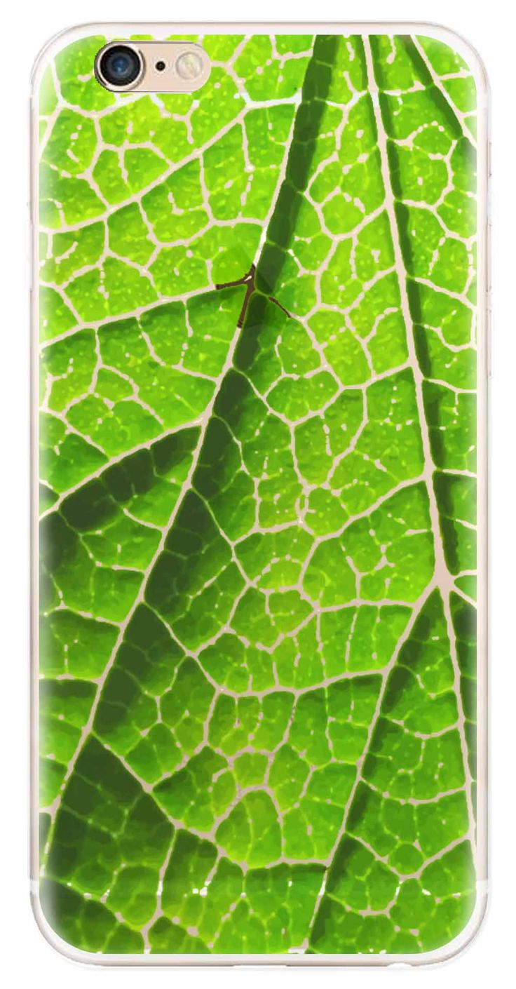 Whatskin DIY Style Green Leave Texture Clear Back Cover for iphone 6