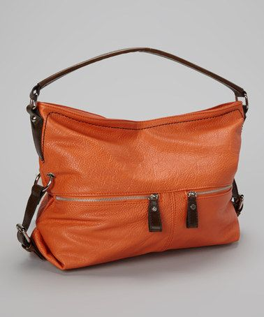 Take a look at this Orange Belt Shoulder Bag by Punto Uno on #zulily today!