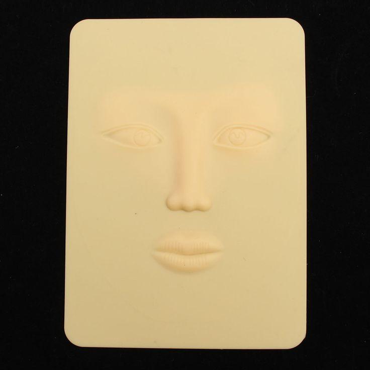 3D Devisable Reusable Eyebrow Eyes Eyelines Lips Tattoo Practice Skin Beginner