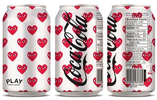 코카콜라 X 꼼데 가르송 #coke #cocacola #collaboration #COMMEDESGARCONS