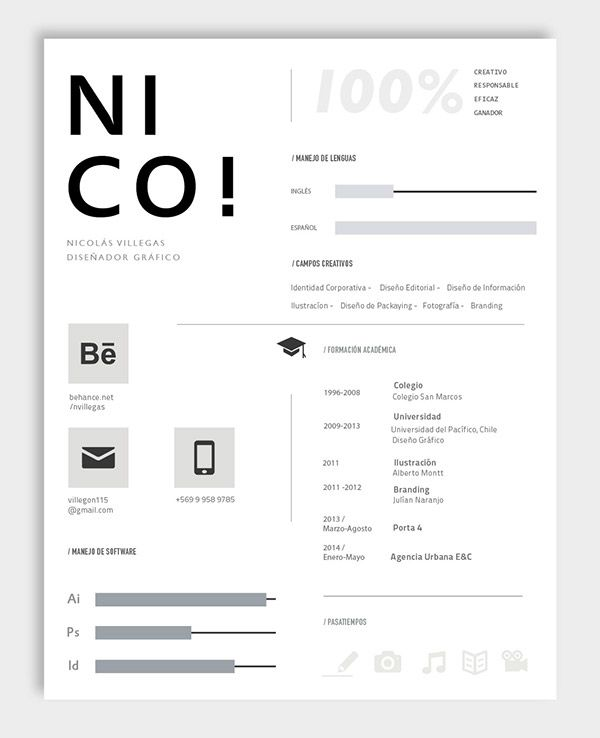 76 best CV Artistic images on Pinterest Creative resume - promotion resume