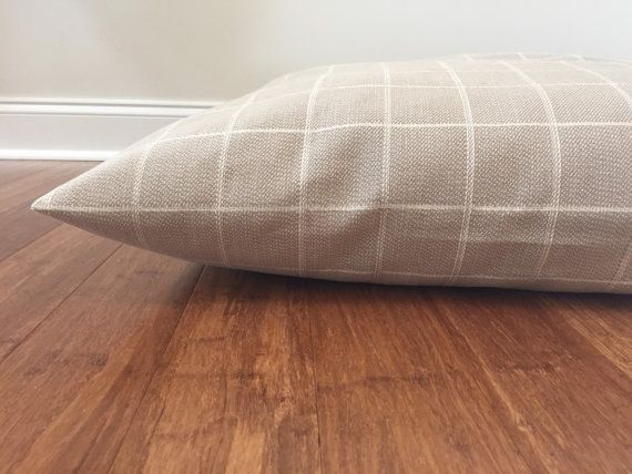 Neutral dog bed cover Checkered Dog bed cover by PlushPupdogbeds