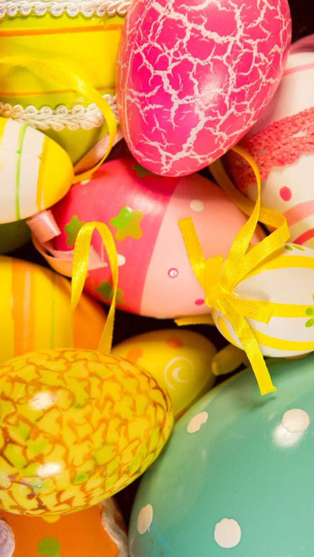 Easter Painted Eggs Holiday Atmosphere #iPhone #5s #wallpaper