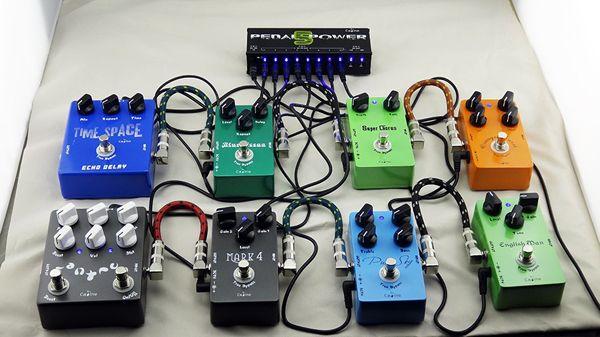 Caline pedales de efectos cp-05 guitarra fuente de alimentación